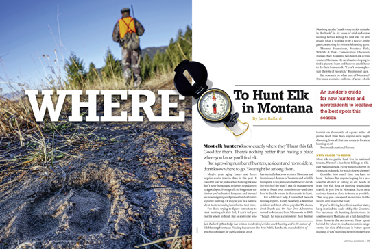 Where to Hunt Elk in Montana article cover