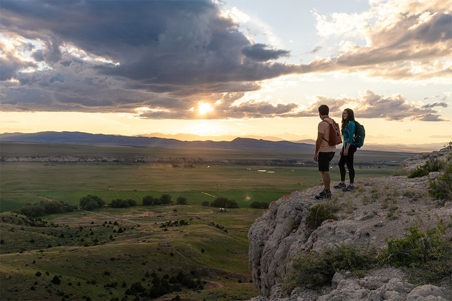 Two people at Madison Buffalo Jump