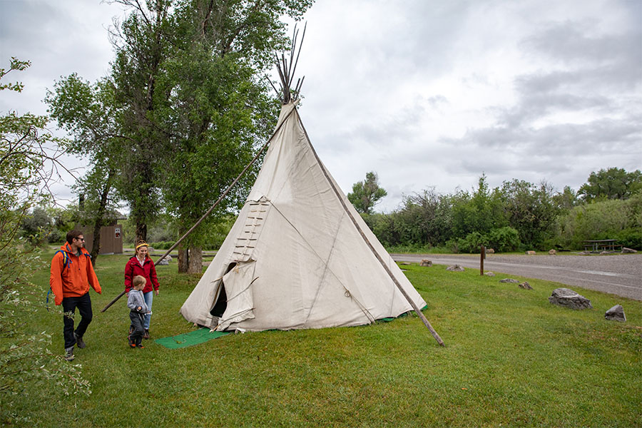 Tipi campsite at Missouri Headwaters State Park