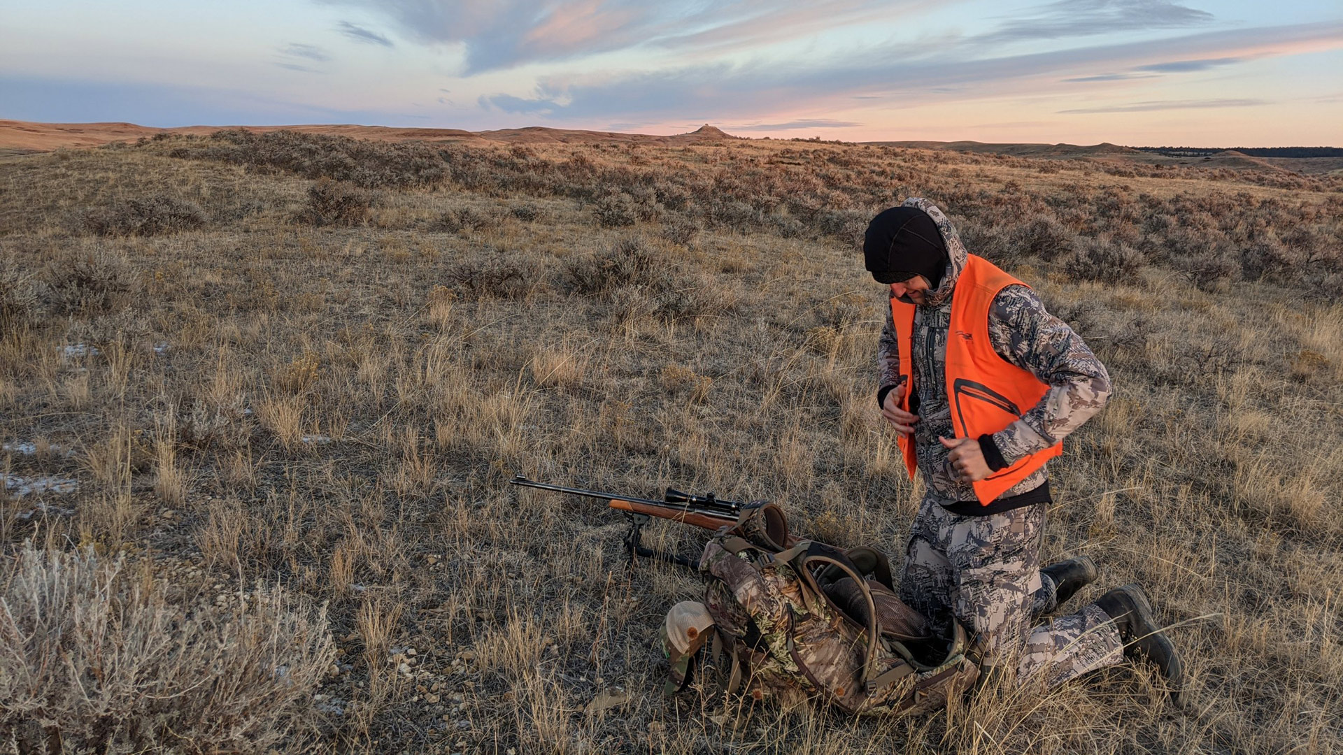 Antelope hunter in Eastern Montana